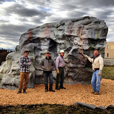 (PHOTO - Hollensteiner Boulder located at Kathy Hollensteiner Memorial park)